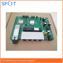 PCB board, PD with 4GE ethernet ports, reverse POE optical network EPON ONU, 4 ports board
