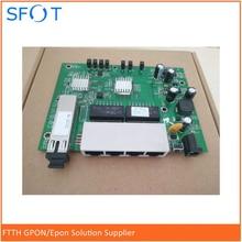 цена на PCB board, PD with 4GE ethernet ports, reverse POE optical network EPON ONU, 4 ports PCB board