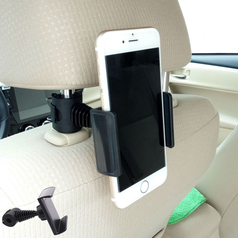 360 degree Rotating CarTruck Back Seat Headrest Phone Mount Holder For Smartphone GPS