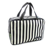 Waterproof large capacity striped wash bag  cosmetic travel MakeUp Organizer Storage  for men and women necessaries para mulhere