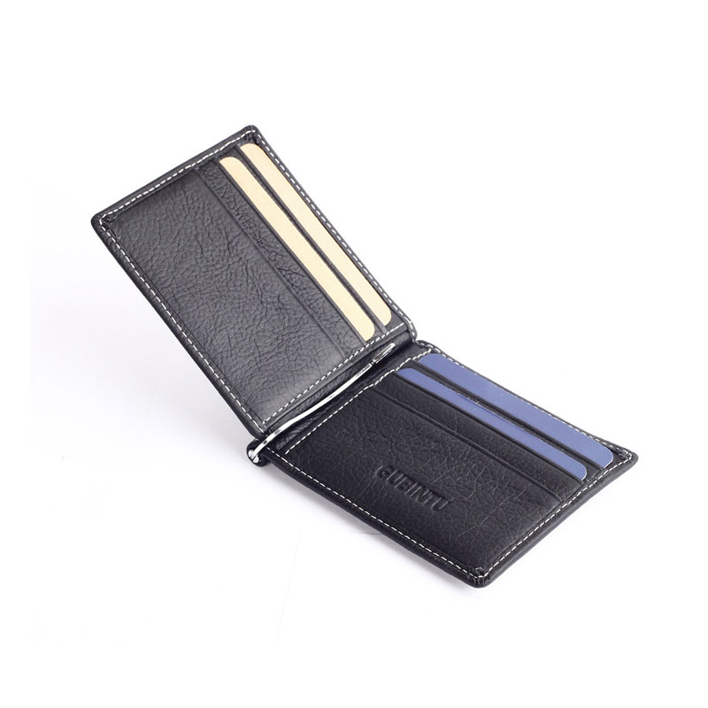 zíper moeda bolso magro masculino Composição : Genuine Leather