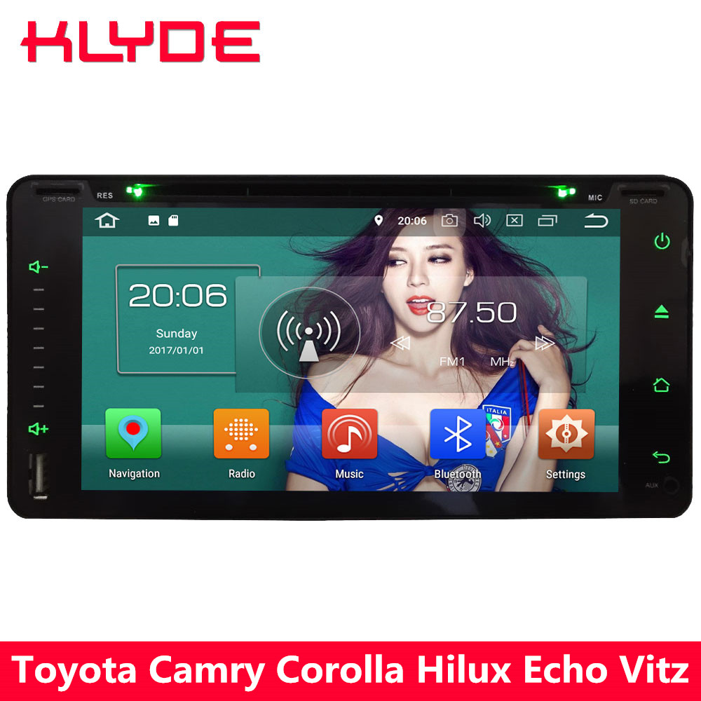 KLYDE 4 г Android 8 Octa Core 4 ГБ + 32 ГБ DVD мультимедиа плеер для Toyota Corolla EX camry RAV4 Прадо Vios Rush 4runner Тундр