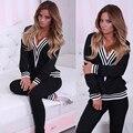 runway women set Two Piece pants Set black gray crochet shrugs sweater women femme women club suit set conjunto mujer suit women
