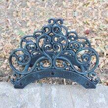Садовый держатель для шланга из кованого железа, наружная декоративная катушка для шланга, вешалка из чугуна, античное настенное крепление из ржавчины