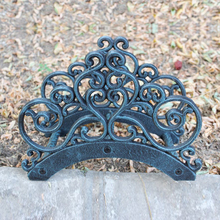 Wrought Iron New Garden Hose Rack Holder Scrowl Outdoor Decorative Reel Hanger Cast Antique Rust Wall Mount Free Ship