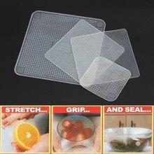 Классическая безопасная Силиконовая Вакуумная упаковка для свежих продуктов силиконовая пищевая печать многоразовая высокоэластичная вакуумная миска эластичная крышка