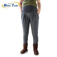 Maternity Winter Leggings Big Size XL XXL 3XL 4XL Dark Grey Cotton Velvet Warm Legging Pants For Pregnant 2019 New Design