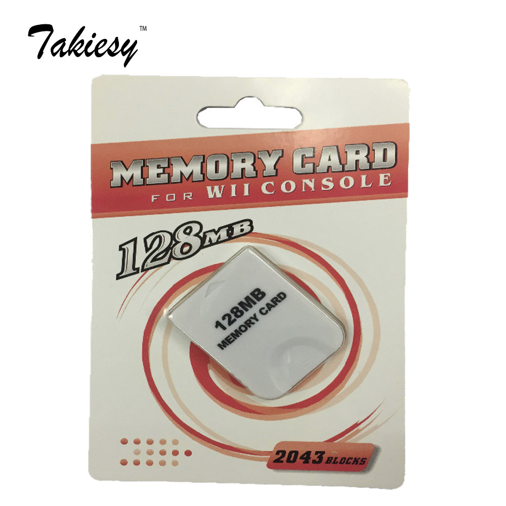 Takiesy 10pc lot White 128MB 128 MB 128M Memory Storage Card Saver For Nintendo for WII