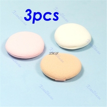 2017 3pcs Beauty Facial Face Soft Sponge Makeup Cosmetic Round Powder Puff Pad JUL25_46