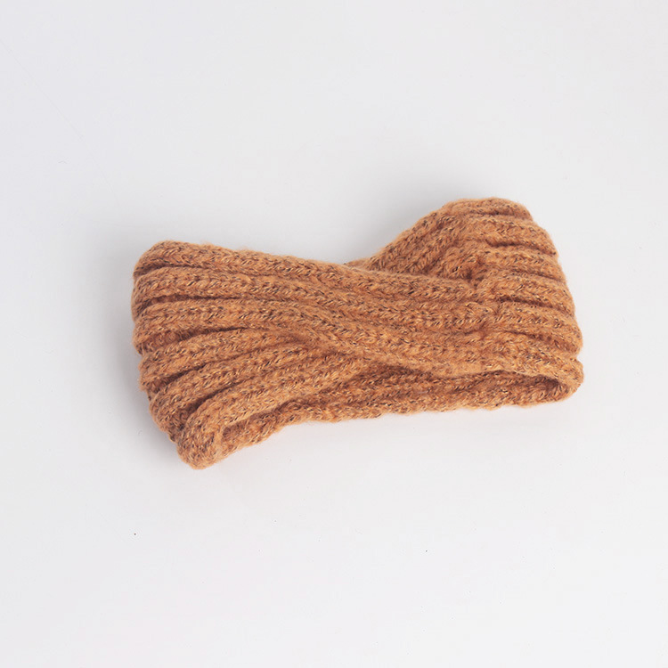 Styling barber  accessories knitted hair band female wool autumn and winter wide-brimmed hand-woven mohair cross headband