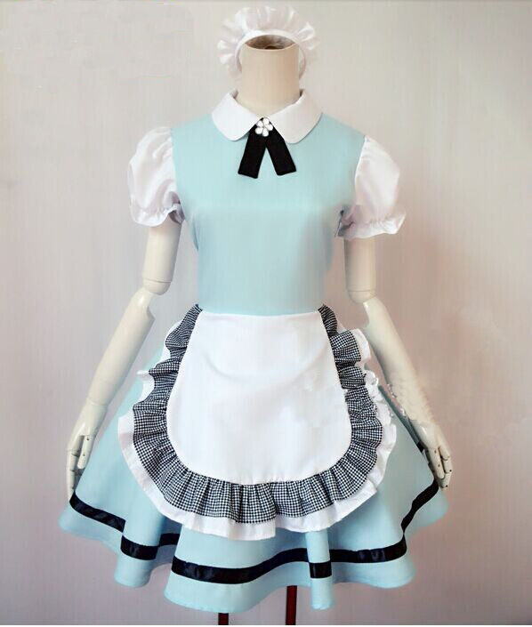 FREE SHIPPING Ladies Sexy Alice In Wonderl& Blue Fancy Dress Costume Childrens Character New