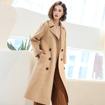 KMETRAM 100% Wool Coat Female Jacket Woman Spring 2019 Double-side Woolen Coats and Jackets Women Streetwear Abrigo Mujer MY2645