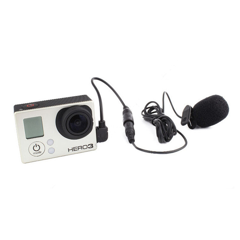 Profesional Gopro Mini 3.5mm External Microphone With Collar Clip On Mic For Go Pro Hero Session 4 3+ 3 Sport Camera Accessories