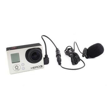 Profesjonalny mikrofon zewnętrzny Gopro Mini 3 5mm z klipsem kołnierzowym na mikrofon do sesji Go Pro Hero 4 3 + 3 akcesoria do kamer sportowych tanie i dobre opinie NMEGOU Wielu Mikrofon Zestawy Przewodowy GoPro Microphone Dookólna Dynamiczny Mikrofon Headset Microphone External Microphone
