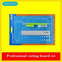 A5 PVC Cutting Mat Set Cutting Pad Patchwork Cut Pad Tools Manual DIY Tool Cutting Board Double sided Self healing Tapete Corte