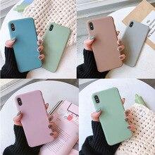 Cat Case Cute Scrub Matte Phone For iPhone X XR XS Max 8 7 6 6SPlus Cases Soft TPU Shockproof Back Cover
