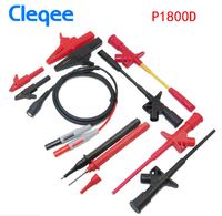 Cleqee P1800B/C/D 11 in 1 BNC Electronic Specialties Test Lead AutomotiveΜltimeter probe leads kit FlexibleΠercing Test Hook