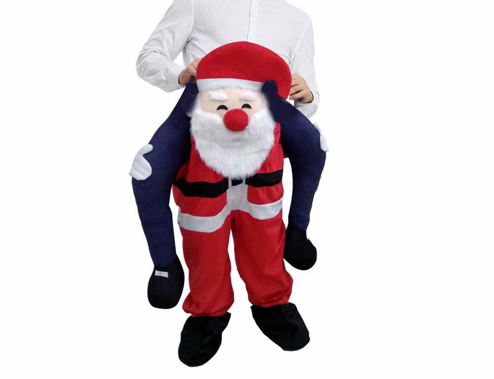Carry Me Piggy Back Ride On Snowman Mascot Xmas Fancy Dress Costume Outfit Adult