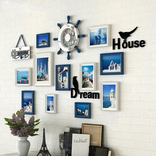 Online Shop New pattern Ocean theme 11pcs/set family wooden photo ...