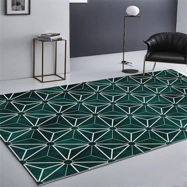 נורדי תוספות אופנה פשוט גיאומטרי מחצלות בית שינה המיטה כניסה מעלית רצפת מחצלת ספת שולחן קפה אנטי להחליק שטיח