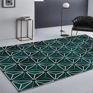Image 1 - Nórdico INS moda geométrica simples esteiras casa de cabeceira quarto entrada elevador tapete sofá mesa de café tapete anti derrapante