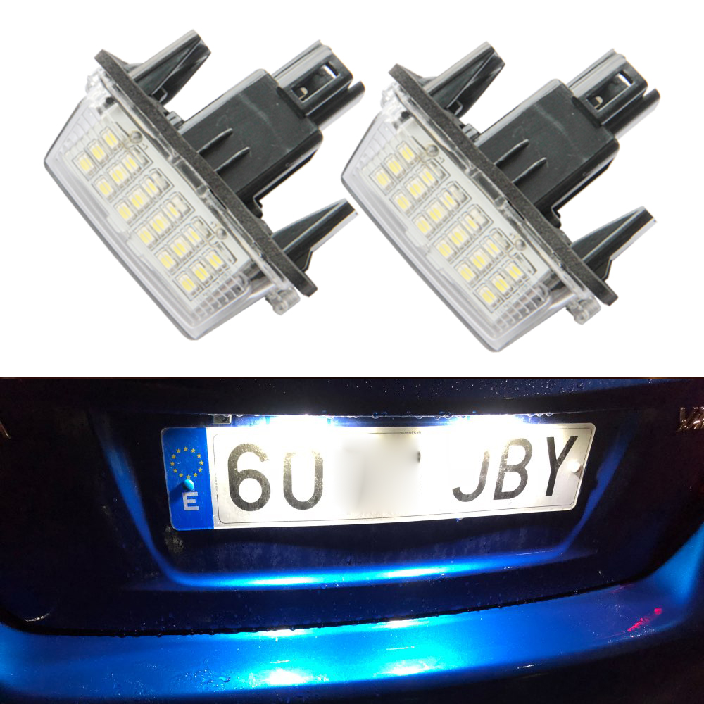 2x Car License Plate Lamps LED Custom License Plate Lights For Toyota Yaris 2012-2014 / Camry 2013-2014 / Auris 2009 - 20102x Car License Plate Lamps LED Custom License Plate Lights For Toyota Yaris 2012-2014 / Camry 2013-2014 / Auris 2009 - 2010
