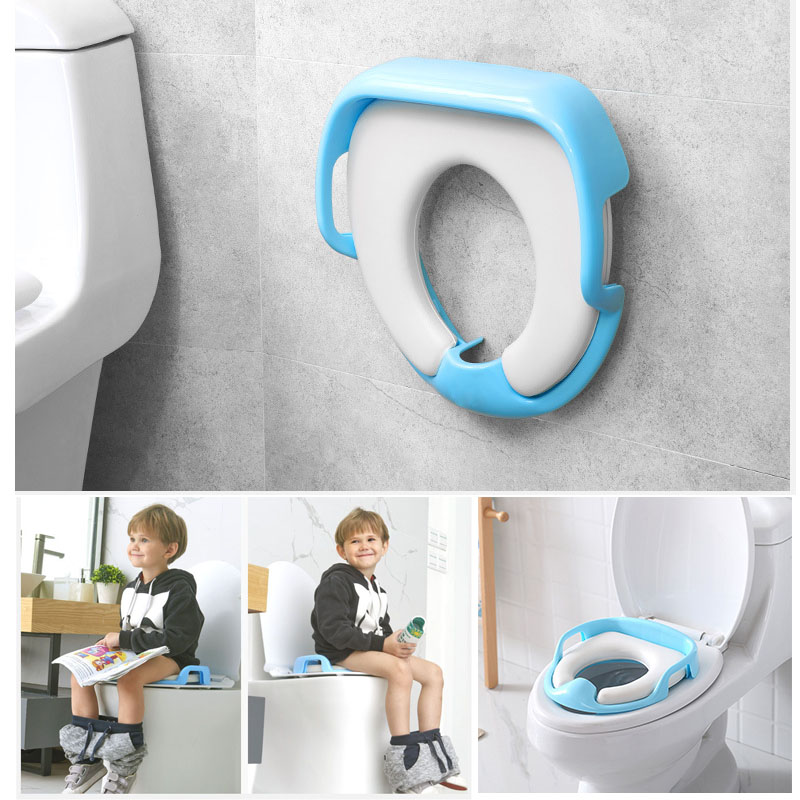 CACX Baby Potties Training Safe Potty Seat For Kids Toddlers Boy Girl Toilet Seat for Baby Cushion Handle Toilet Anti-slip Chair