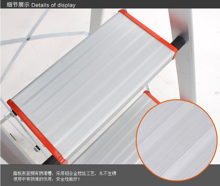 3 Steps Folding Light Type Aluminum Step Ladder Staircase, Ladder With Long  Handrail, Rubber Feet, ABS Plastic Joints In Furniture Accessories From ...