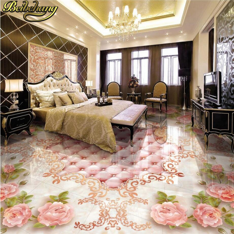 beibehang Custom papel de parede 3D Floor Wallpaper Self-adhesive Living Room Bedroom Bathroom Floor Mural Photo Wall paper roll  beibehang wallpaper custom home decorative backgrounds powerful bear paintings living room office hotel mural 3d floor painting