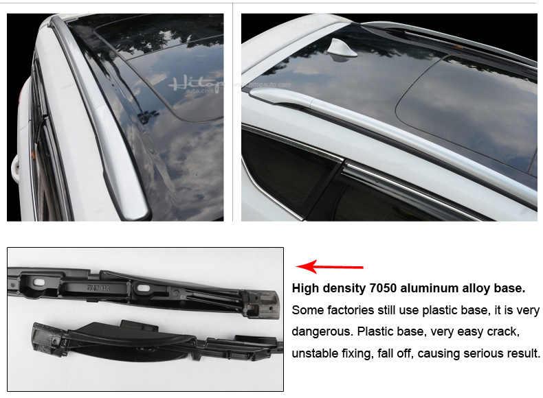 Chegada nova trilho de bagagem da cremalheira do telhado/barra do telhado para ford kuga/escape 2012-2020, cxk genuíno, qualidade iso9001, base de metal, carregando 96kg