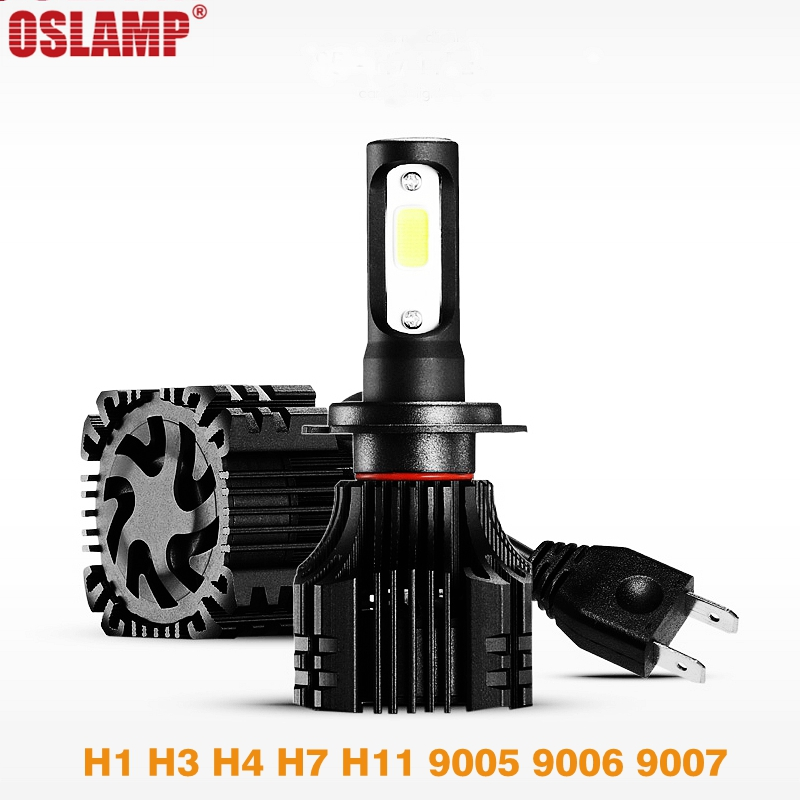 Oslamp S5 H1 H3 H4 H7 H11 9005 9006 9007 Car LED Headlight Single Beam Hi Lo Beam LED Headlight Bulb 8000lm 12V 6500k leadtops led h4 h7 h11 h1 h13 h3 9004 9005 9006 9007 cob led car headlight bulb hi lo beam 72w 8000lm 6500k auto headlamp 12v dj