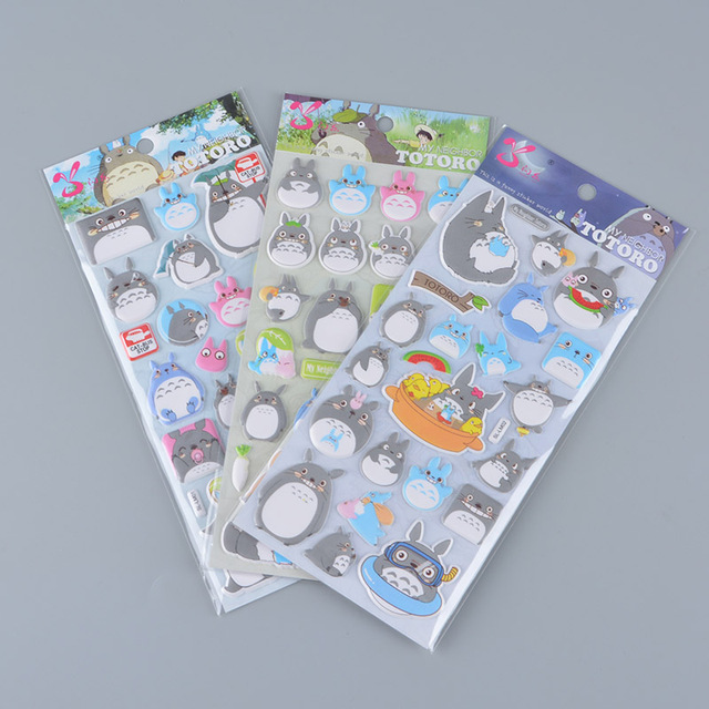 Studio Ghibli TOTORO 3D Stickers (8 types)