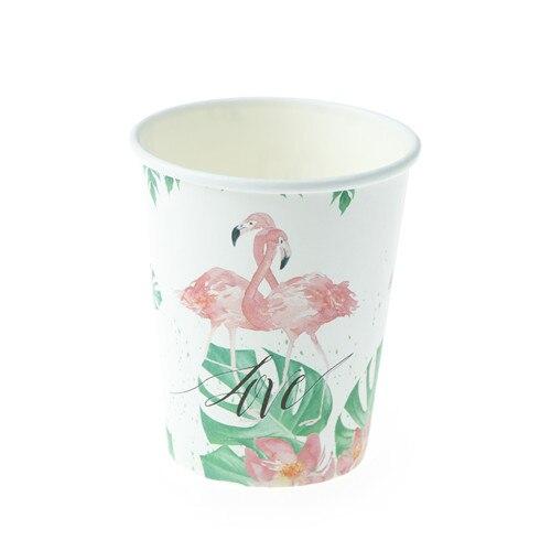 10pcs Tropical Flamingo Paper Disposable Cups Party Tableware Decoration