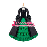 Victorian Rococo Medieval Gown Ball Gothic Evening Dress Cosplay Costume Custom made[G885]
