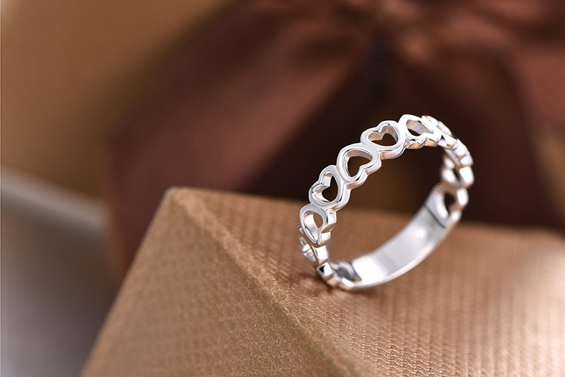 wedding engagement rings sterling silver NR55400B (4)