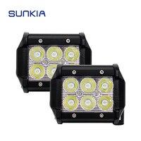 1x 18W 4 LED Working Light Bar Spot Rear Light Car Styling External Spotlight Fog Lamp
