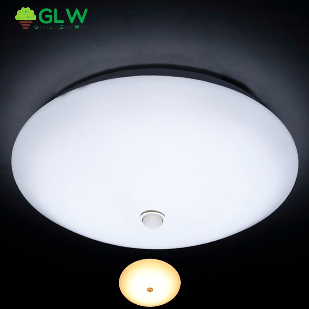 Luminaires De nuit GLW avec capteur De mouvement plafonnier monté en Surface 12 W 18 W
