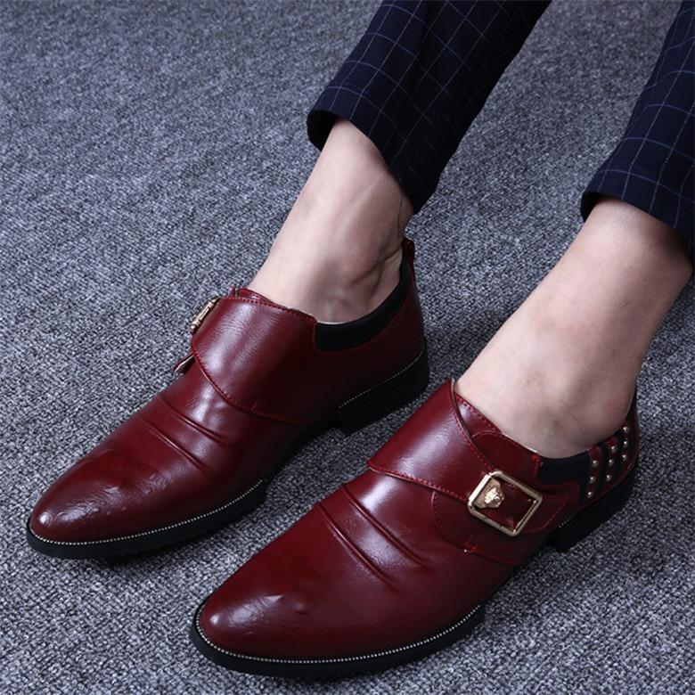 Genuine leather Men Leather Oxfords Shoes Spring Autumn Brand British font b Dress b font Wedding