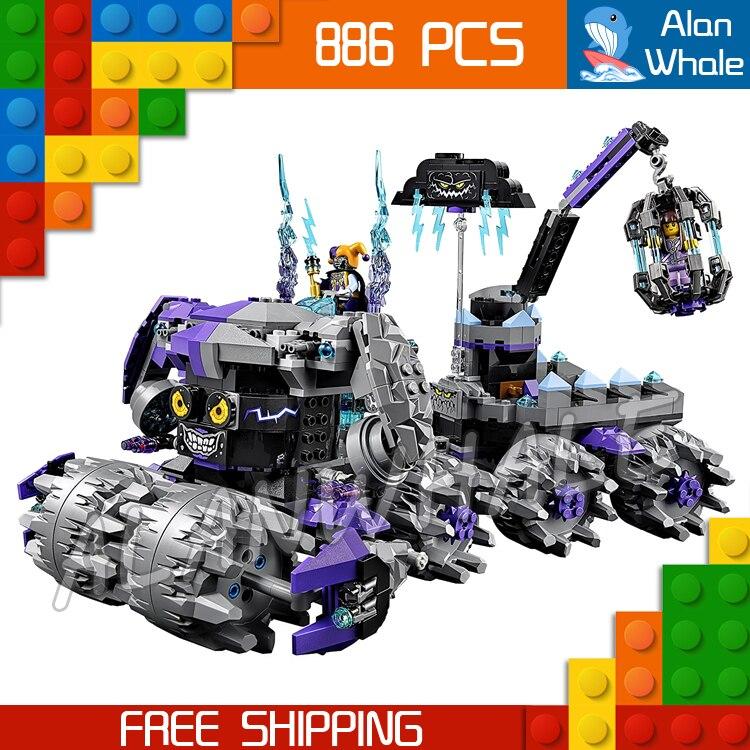 886pcs New Knights 14031 Jestro's Headquarter 3D DIY Model Building Blocks Boys Toys Nexus Compatible with Lego