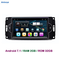 Aoluoya оперативная память ГБ 2 ГБ Android 7,1 Автомобиль Радио DVD gps плеер для Chrysler 300C Dodge Jeep Commander компасы Wrangler Grand cherokee