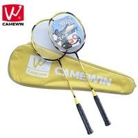 CAMEWIN Brand 2 PCS High grade Badminton Racquet ,Carbon Fiber Badminton Rackets, Including Badminton Bag raquete de badminton