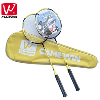 CAMEWIN Brand 2 PCS High grade Badminton Racquet ,Carbon Fiber Badminton Rackets, Including Badminton Bag raquete de badminton