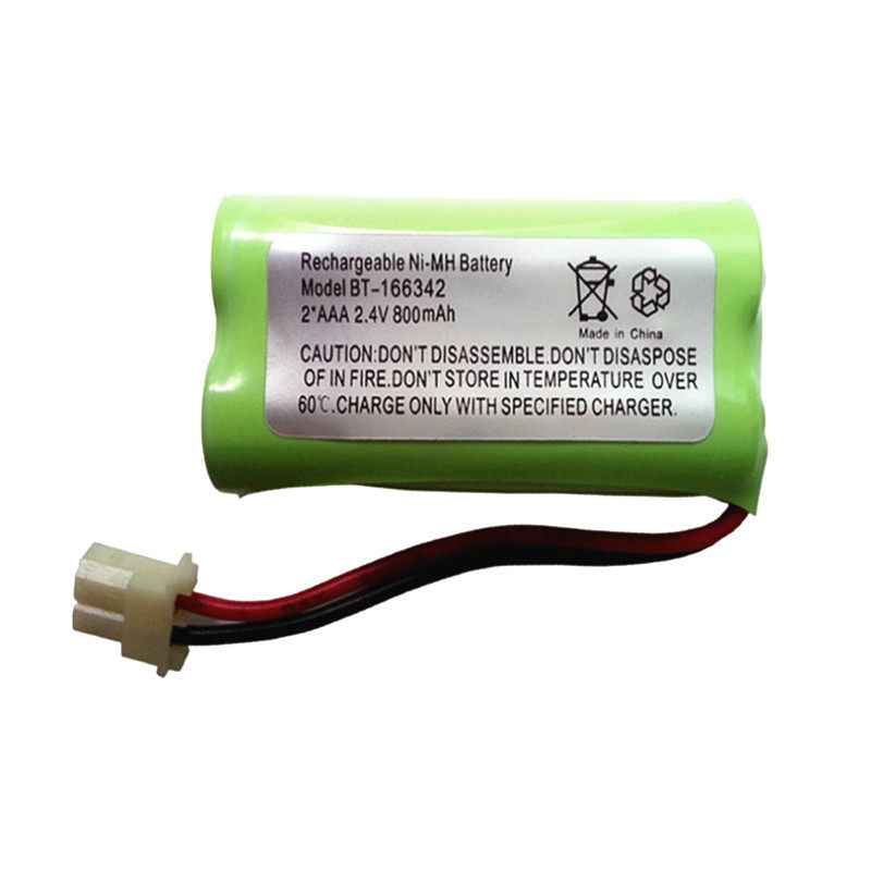 1PCS BT-166342 2.4V 800mAh Ni-MH Rechargeable Battery pack inner cell for cordless phone BT-166342
