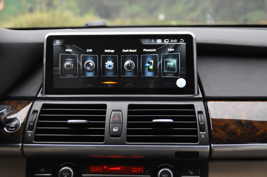 Anti Reflection HD screen Android 9.0 car gps for BMW X5 E70 X6 E71 Navigation touch screen stereo head units HU tape recorder