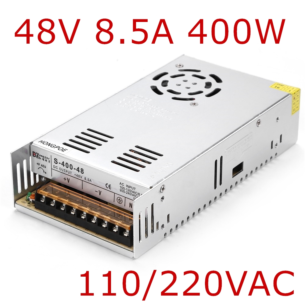 Best quality 48V 8.3A 400W Switching Power Supply Driver for CCTV camera LED Strip AC 100-240V Input to DC 48V best quality 48v 7 3a 350w switching power supply driver for led strip ac 100 240v input to dc 48v free shipping