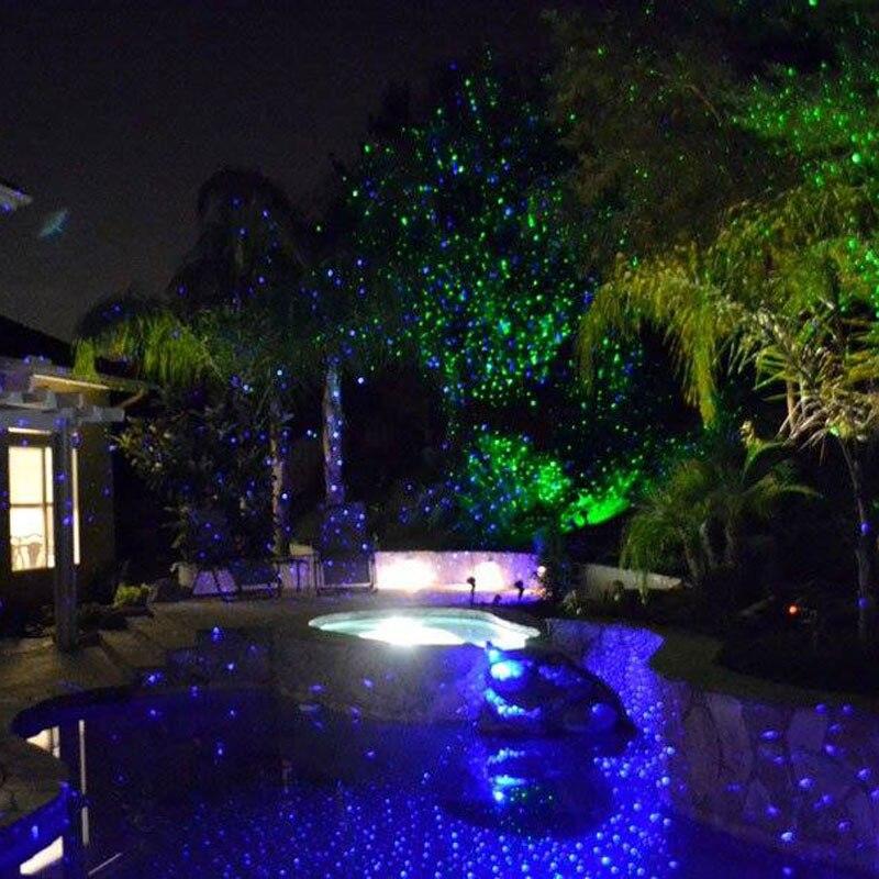 Proyector láser luces de Navidad todo para las decoraciones de Año Nuevo casa al aire libre impermeable solo azul - 3