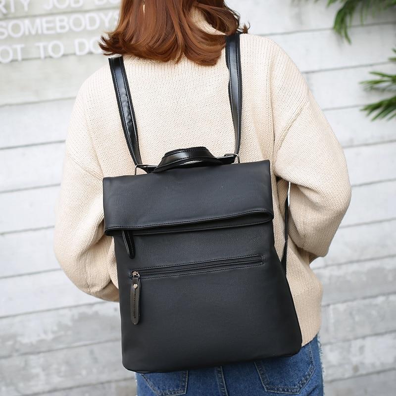 2 Pcs/Set Backpack Women Leather Backpacks Women Multifunction Backpack And Purse Kanken Back Pack Girls School Bag