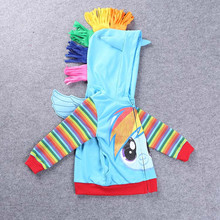 SAMGAMI BABY 2017 New Fashion Jacket Kids Clothes My Pony Girls Coat, Hoodies, Baby Girl Cotton Jacket Children Clothing Outwear