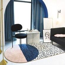 Collalily модный розовый ковер в скандинавском стиле геометрический богемный однотонный ковер для гостиной в клетку в полоску современный дизайн синий