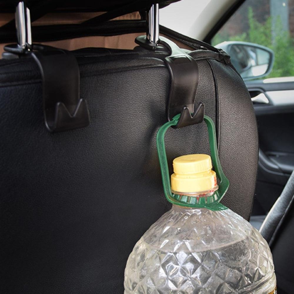 4pcs New Innovative Car Styling Back Seat Hooks Headrest Mount Hanger Holder For Bag Purse Cloth Grocery Storage Auto Fastener